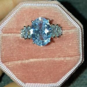 Celeste White Sapphire Cocktail/ Engagement Ring